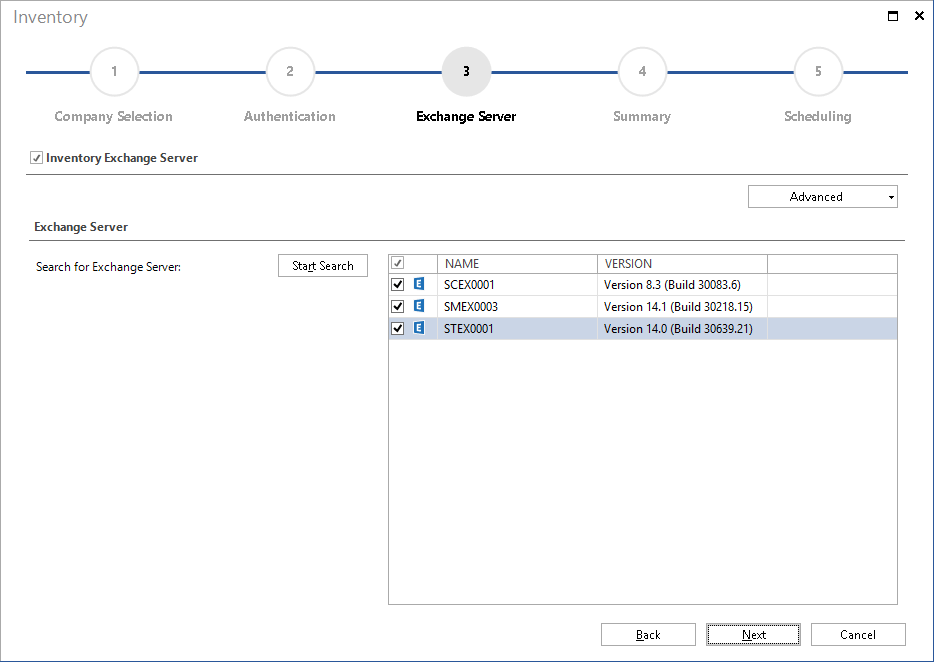 Inventory and Documentation of Document Microsoft Exchange Server