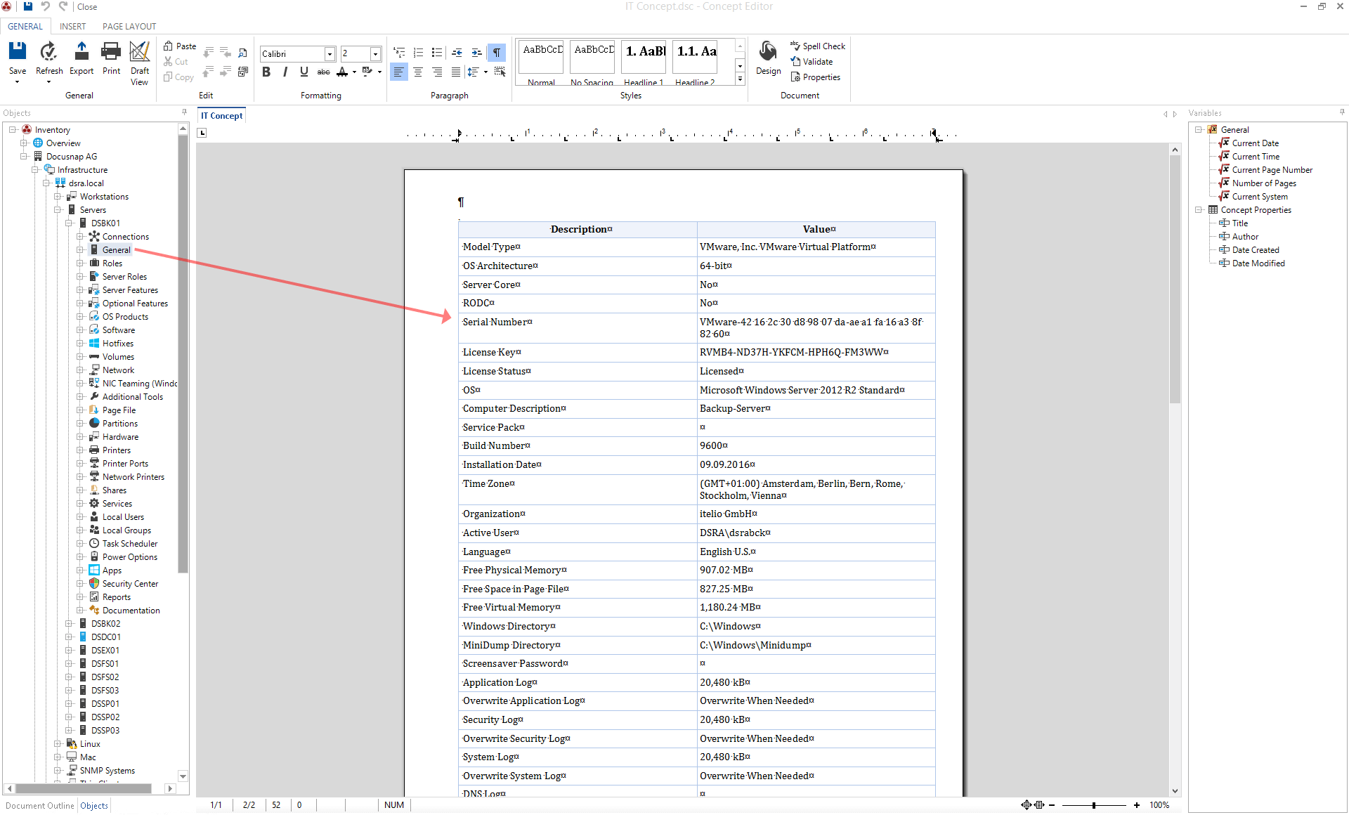 Adding a data element in IT concepts