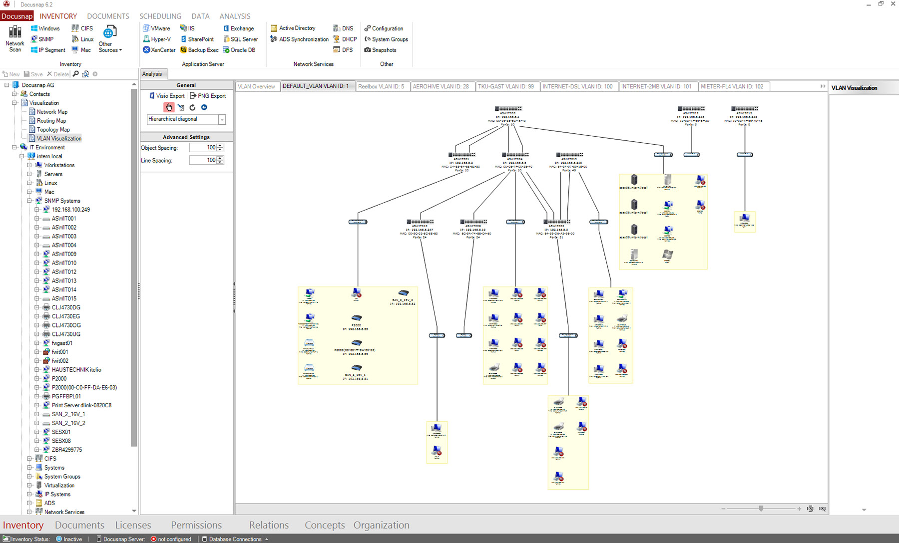 Docusnap 6.2 - VLAN-Konfiguration