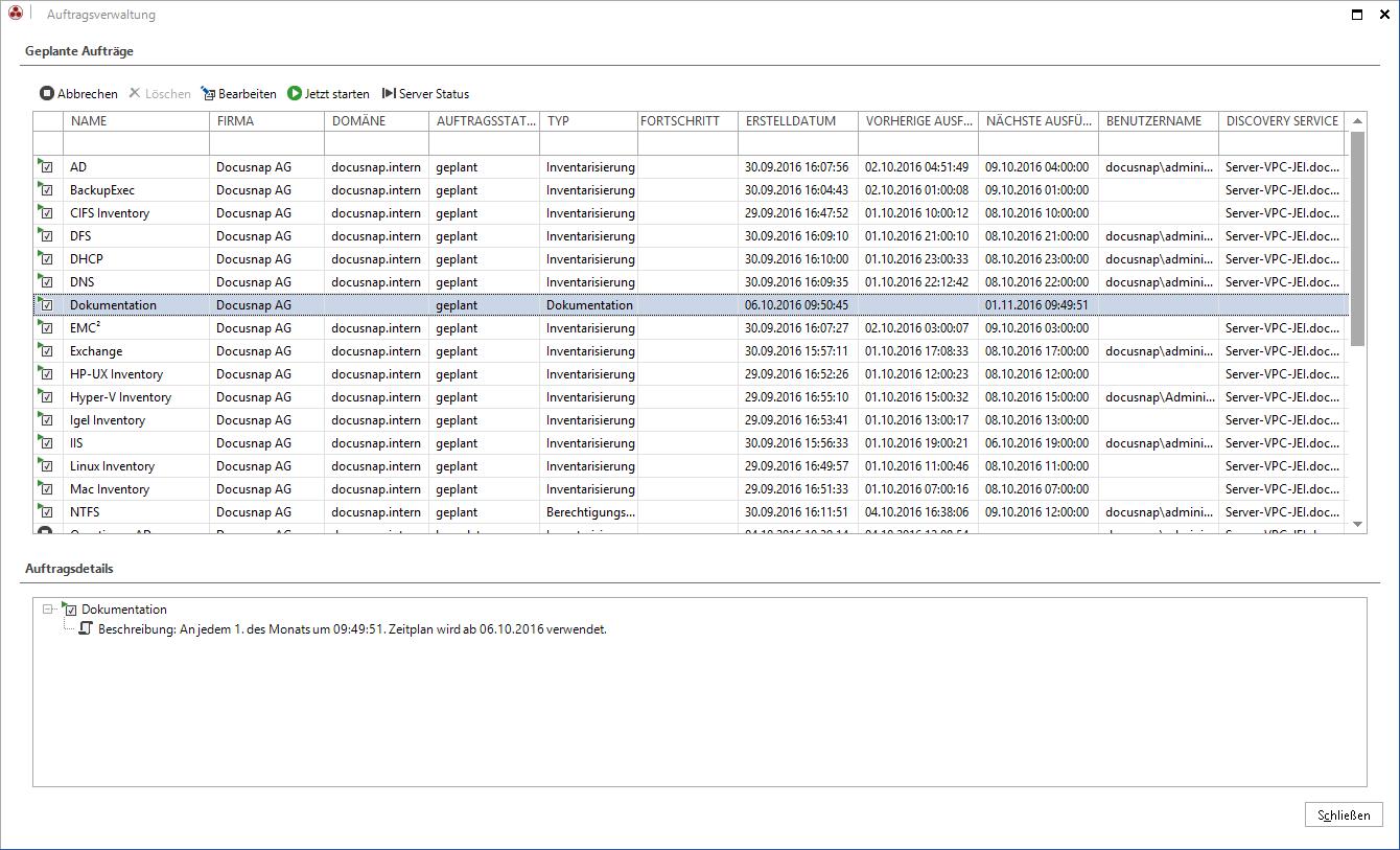Screenshot: IT-Konzept automatisch exportieren und versenden