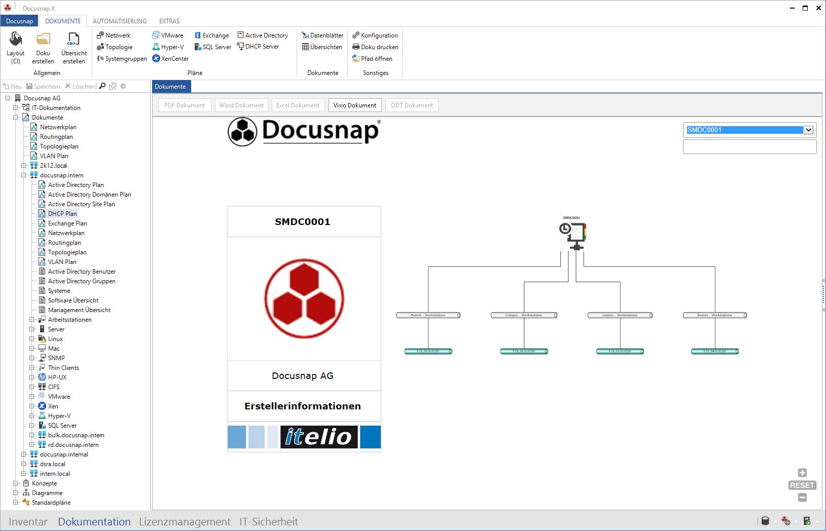 DHCP Plan innerhalb der Microsoft DHCP Inventarisierung
