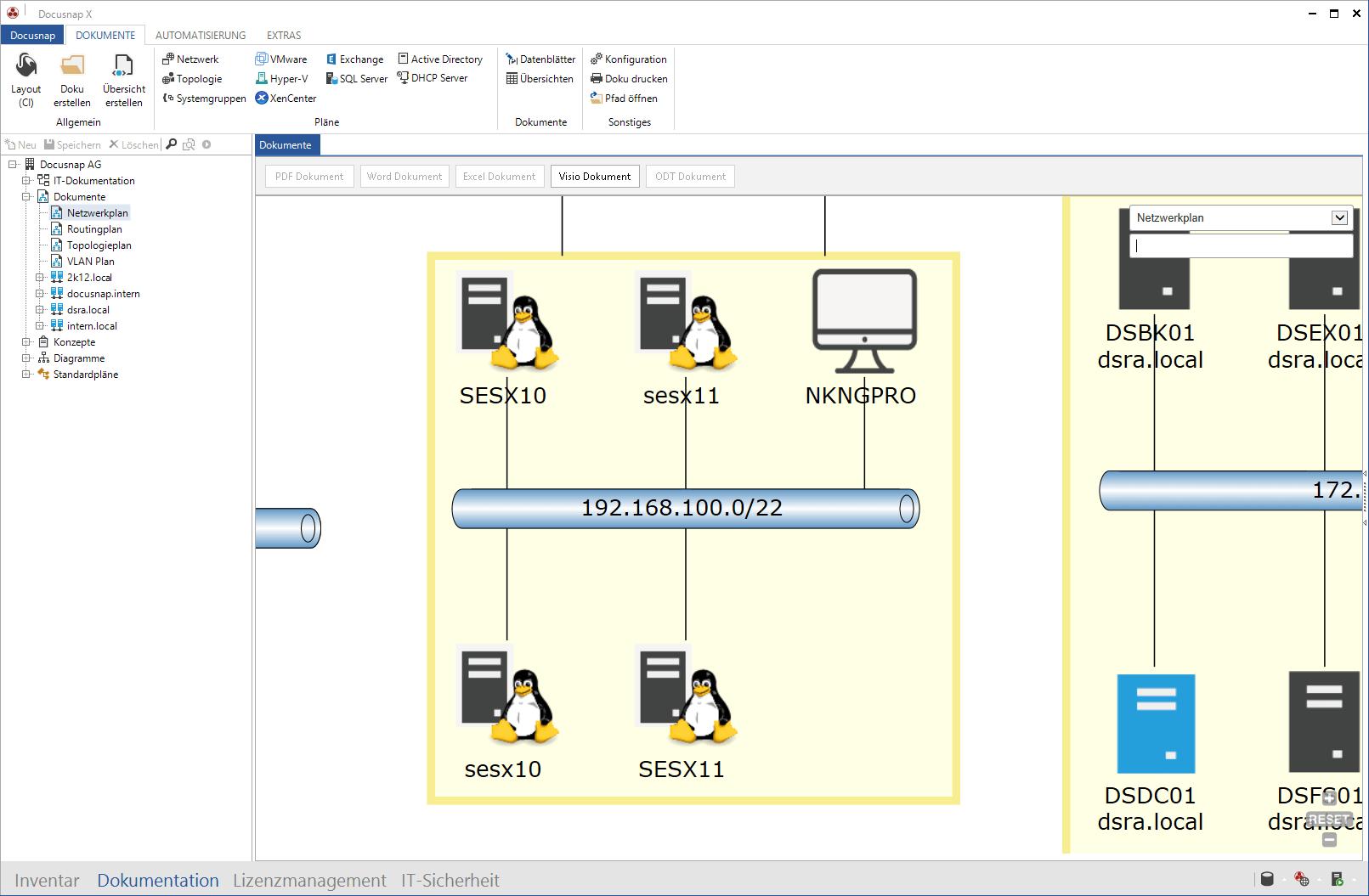 Linux Inventarisierung und Linux Netzwerkplan