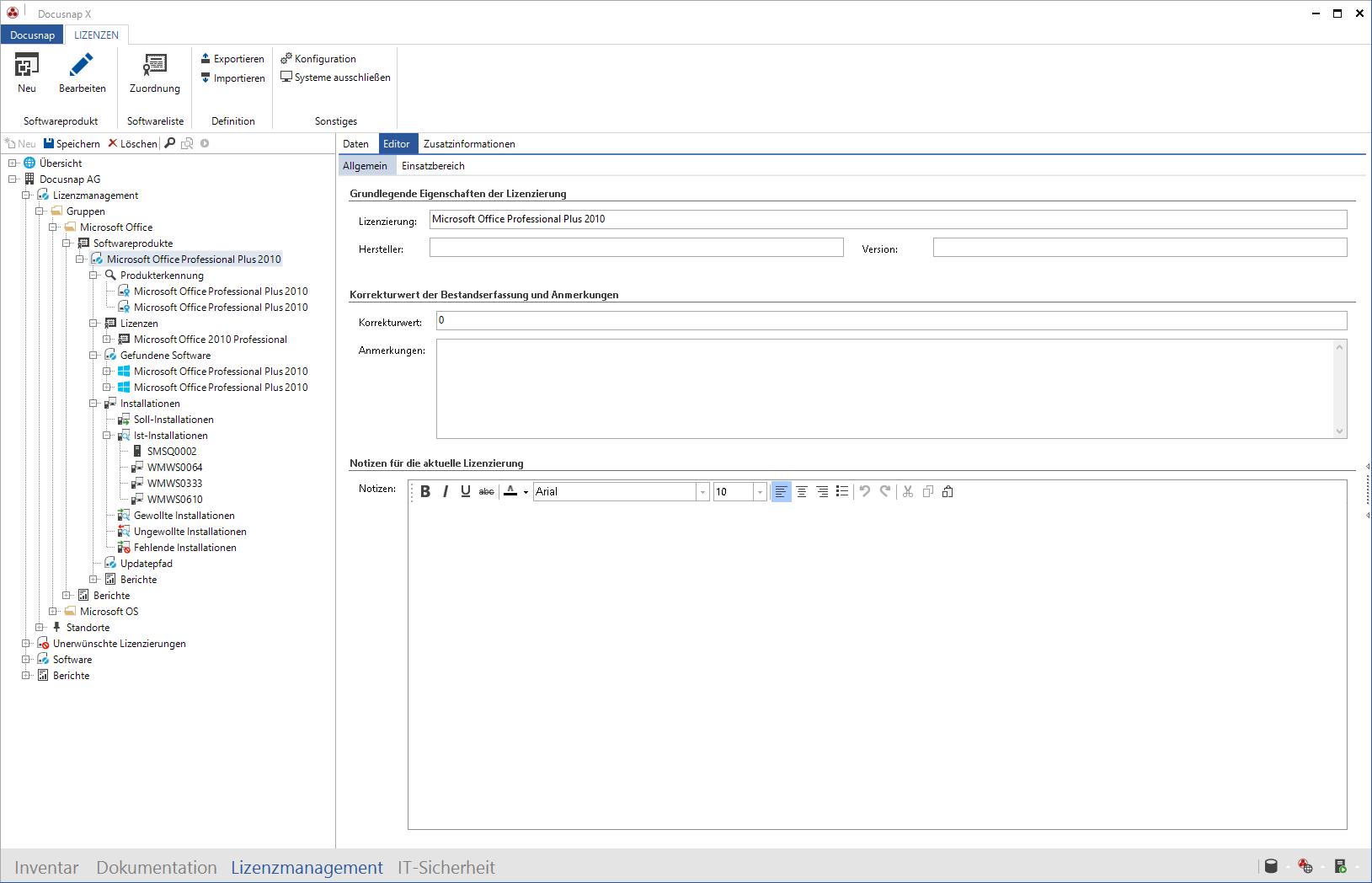 Screenshot: Patch und Versionsübersicht