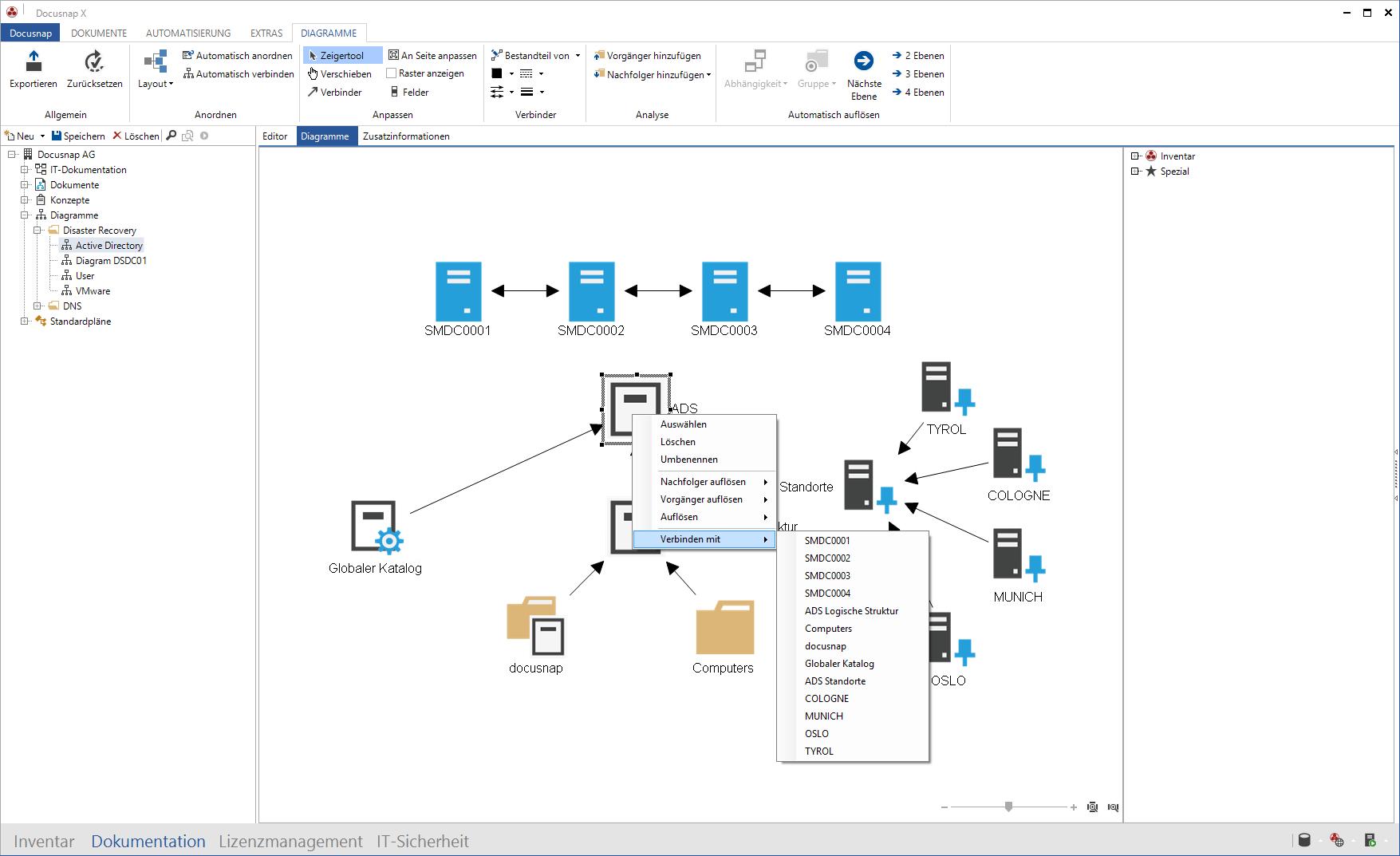 Screenshot: Systemabhängigkeiten