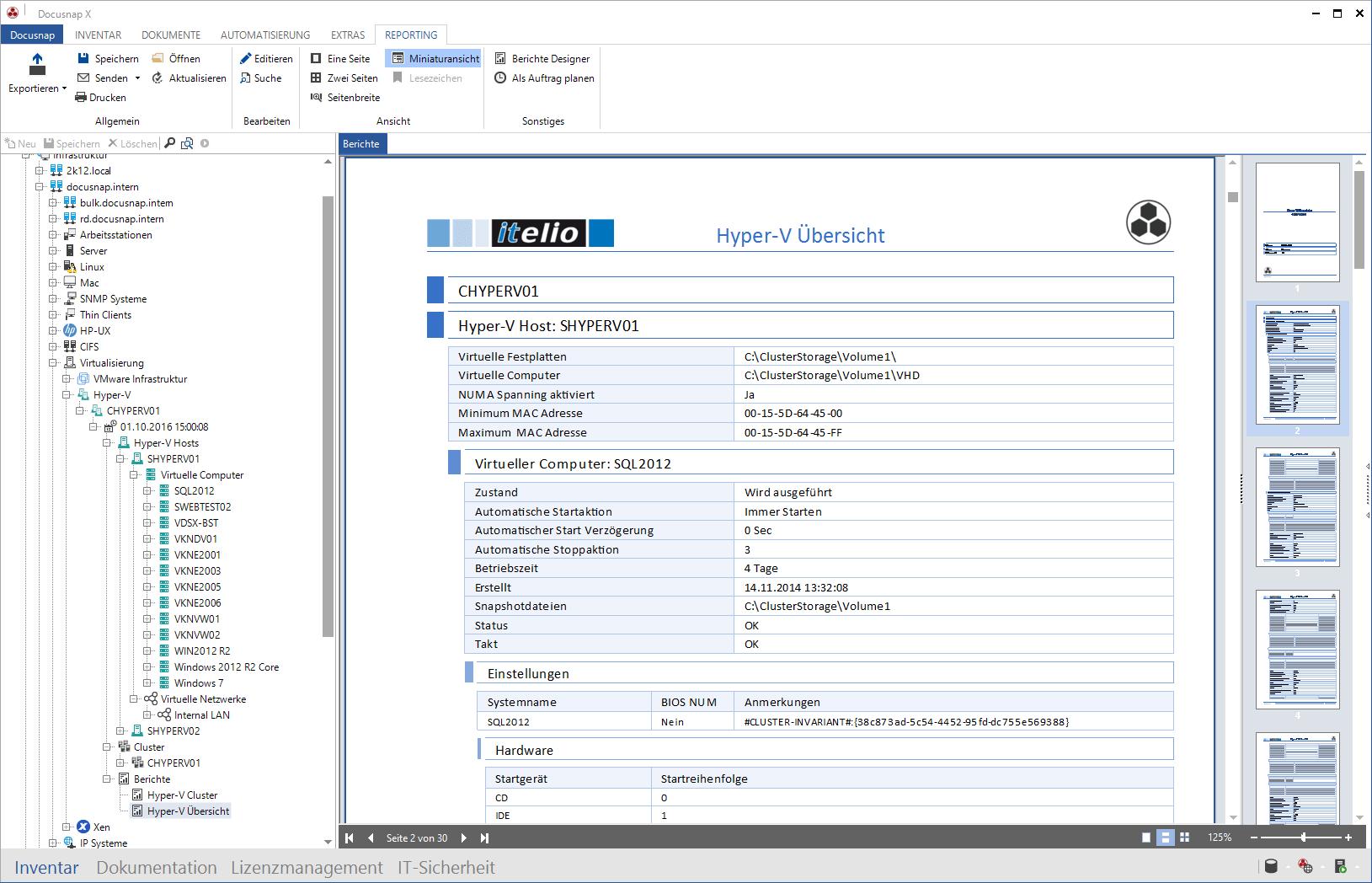 VMware XenCenter und Hyper-V Berichte erstellen