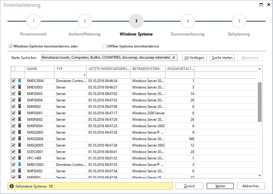 Windows Netzwerk-Inventarisierung