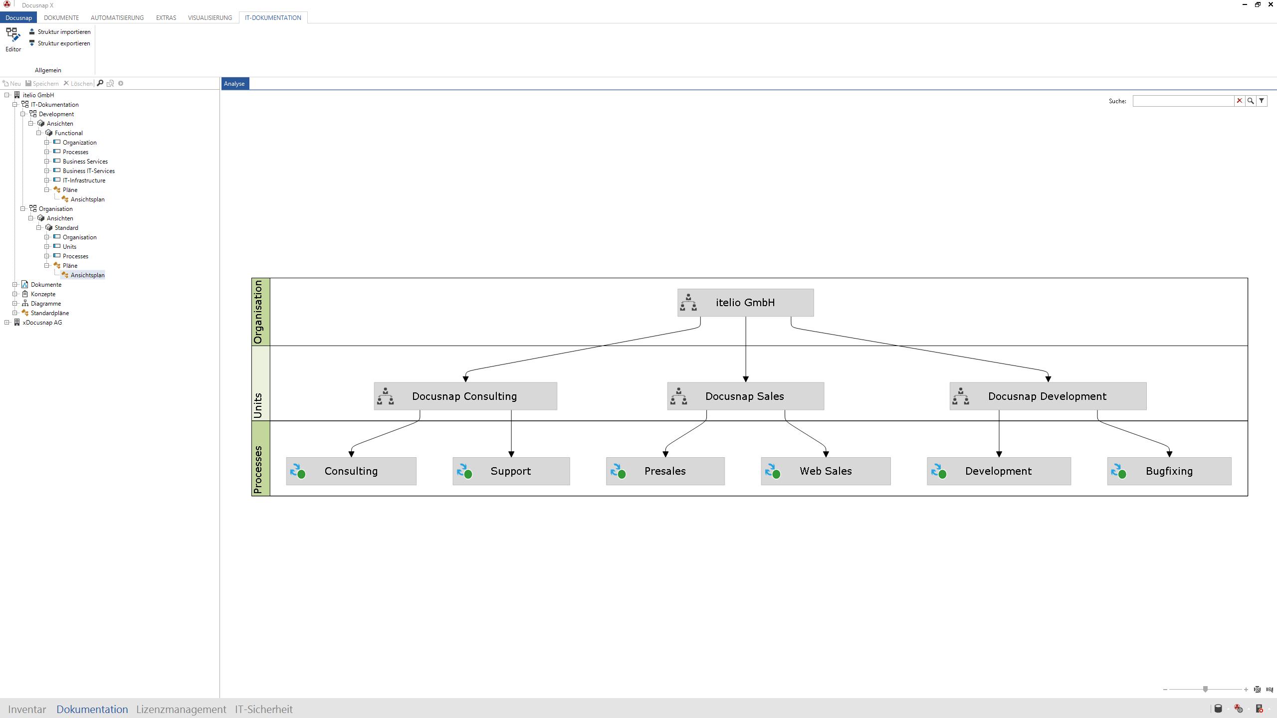 Docusnap X Ansichtsplan IT-Dokumentation