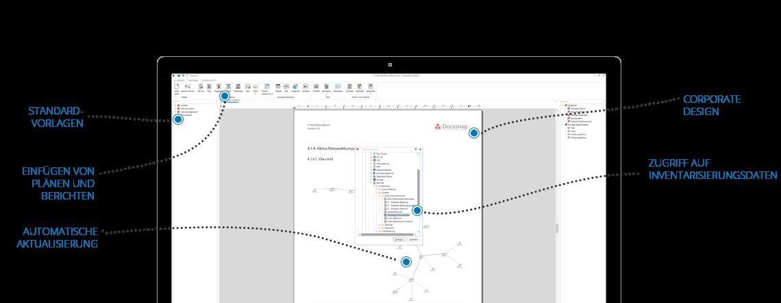 Screenshot: Beschreibung des Aufbaus einer IT-Dokumentation