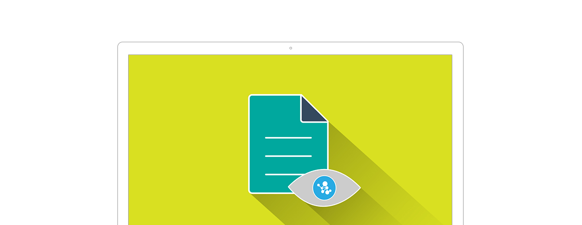 Icon IT-Dokumentation auf grünem Hintergrund
