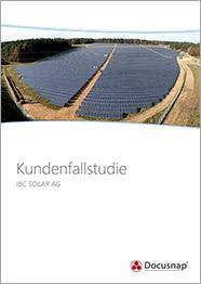 Titelseite Kundenfallstudie IBC Solar AG