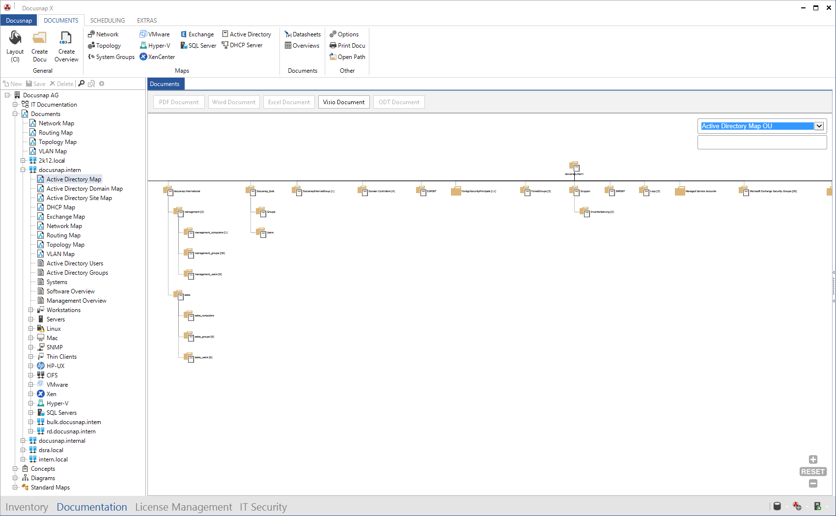 Screenshot: Active Directory Map OU