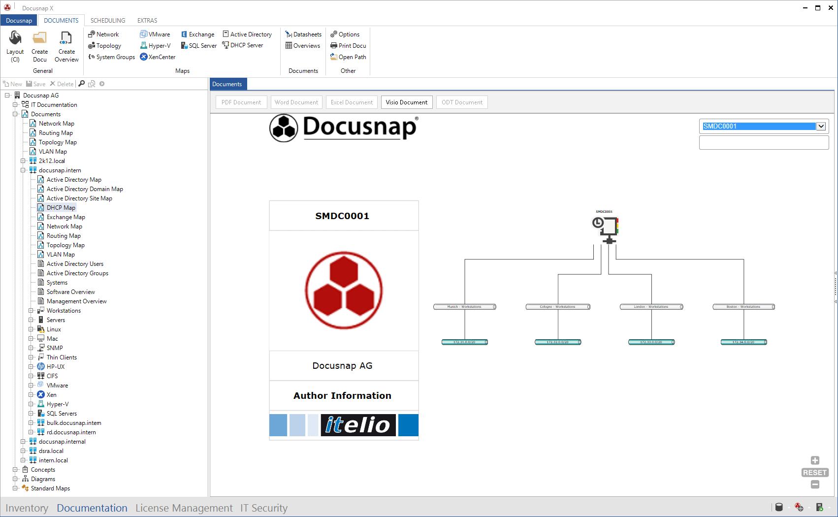 Screenshot: DHCP Map
