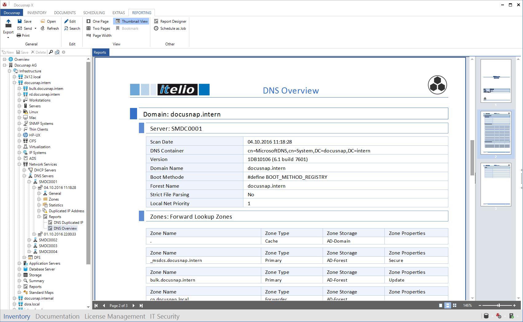 Screenshot: Report DNS Overview