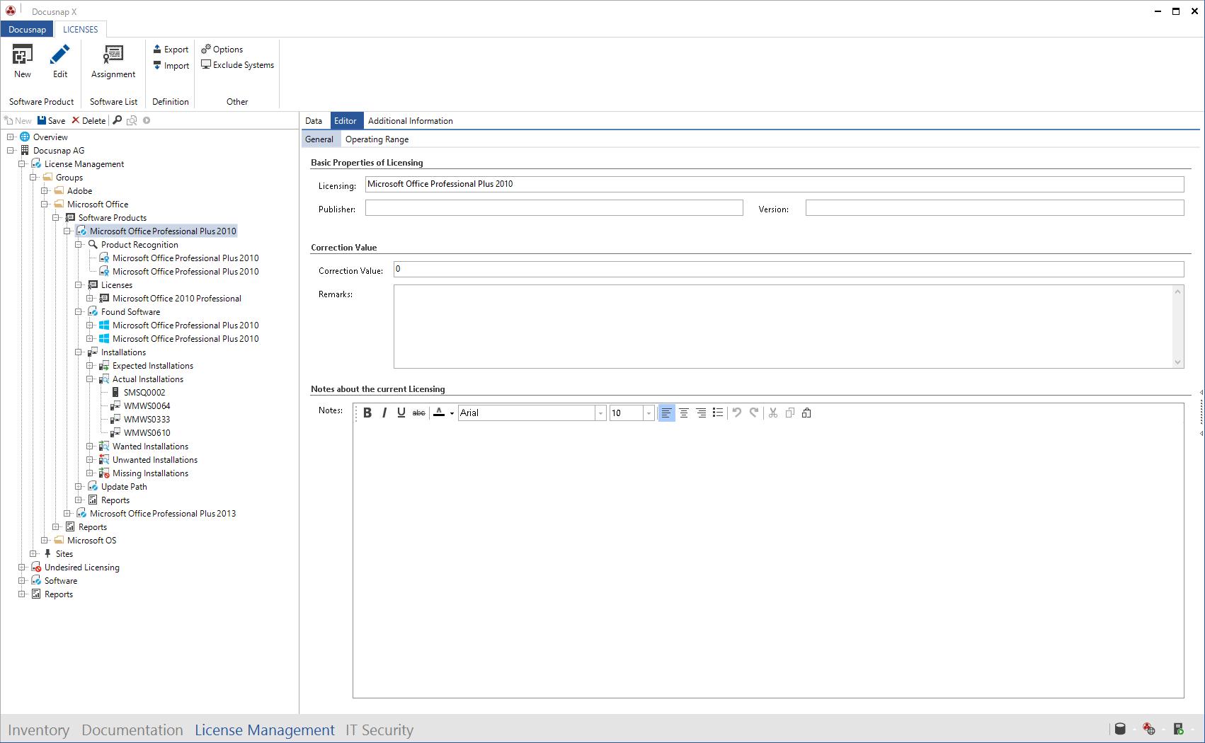 Data Explorer License Management