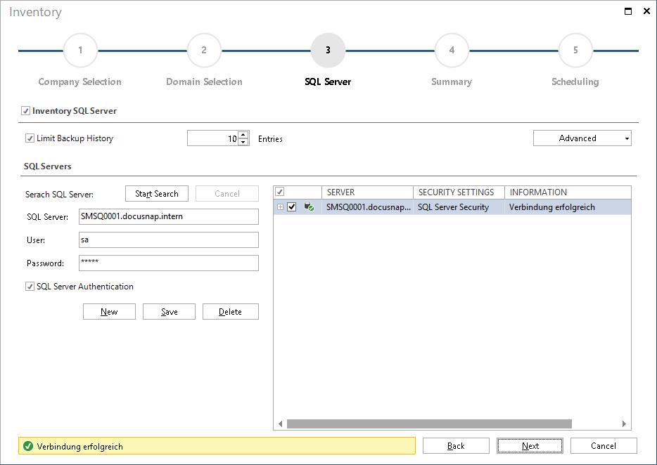Inventory SQL Server