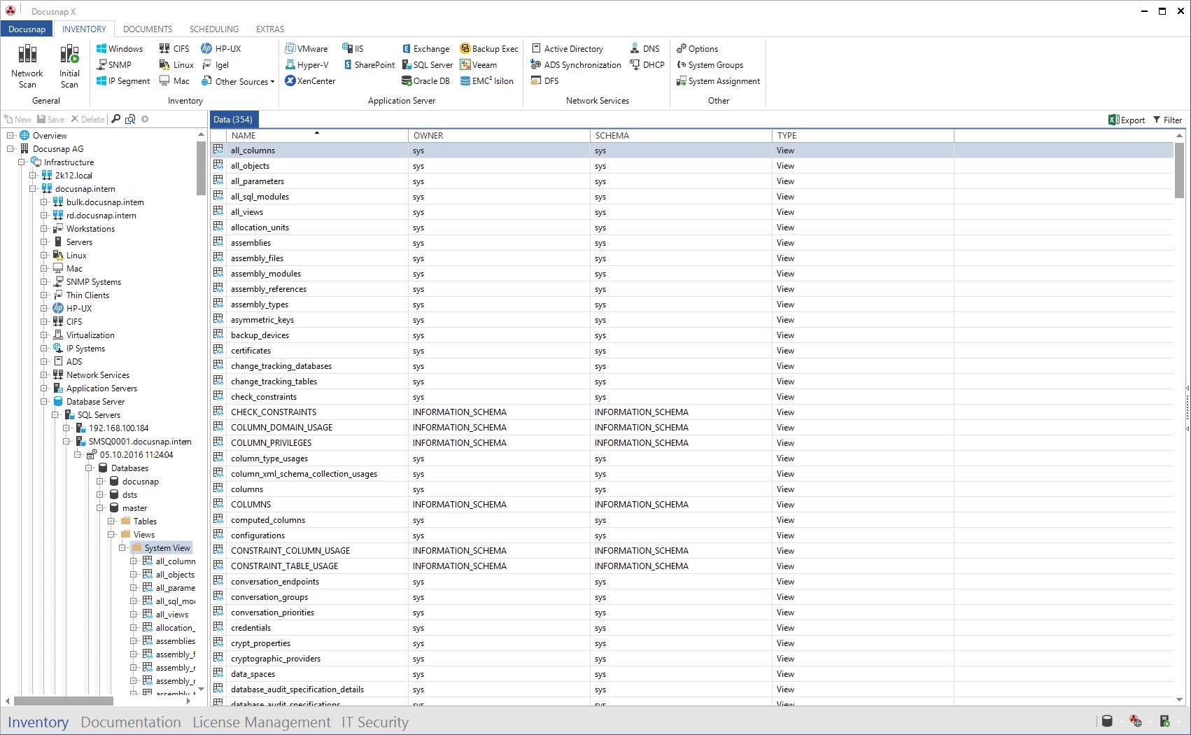 Data Explorer SQL Views