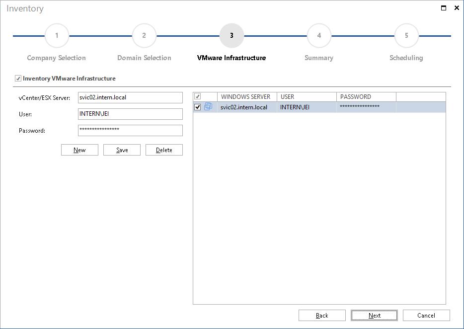 Inventory VMware Infrastructure