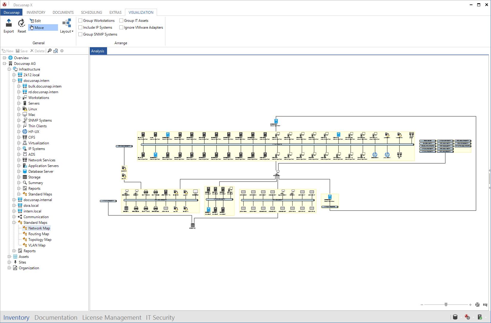 Screenshot: Docusnap Network Plan
