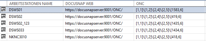 Screenshot Docusnap Connect Abfrage